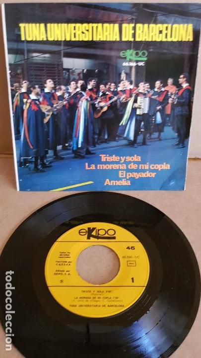 TUNA UNIVERSITARIA DE BARCELONA / TRISTE Y SOLA / EP - EKIPO-1967 / MBC. ***/*** (Música - Discos de Vinilo - EPs - Country y Folk)