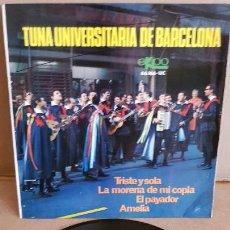 Discos de vinilo: TUNA UNIVERSITARIA DE BARCELONA / TRISTE Y SOLA / EP - EKIPO-1967 / MBC. ***/***. Lote 155451386