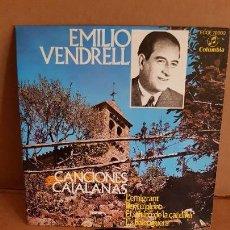 Discos de vinilo: EMILIO VENDRELL / CANCIONES CATALANAS / EP-COLUMBIA - 1962 / MBC. ***/***. Lote 155452190