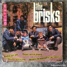 Discos de vinilo: THE BRISKS - PEPE SERÁ PAPÁ + 3 . SINGLE . 1965 BELTER . Lote 155456262