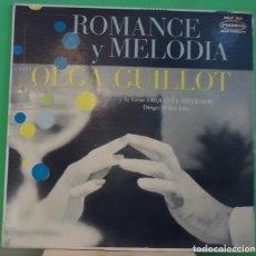 Discos de vinilo: LP OLGA GUILLOT Y LA GRAN ORQUESTRA RIVERSIDE – ROMANCE Y MELODIA. Lote 155458350