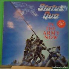 Discos de vinilo: LP STATUS QUO – IN THE ARMY NOW. Lote 155459366