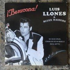 Discos de vinilo: LUIS LLONES & BLUE RAIDERS - BESUCONA . SINGLE . 1994 . ESTUDIOS EXPERIENCE . Lote 155460646