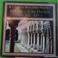 Discos de vinilo: LP CORO DE MONJAS DEL MONASTERIO CISTERCIENSE DE SANTA MARÍA LA REAL DE LAS HUELGAS, ATRIUM MUSICAE. Lote 155461562