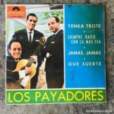 Discos de vinilo: LOS PAYADORES - YENKA TRISTE . 1965 POLYDOR . Lote 155461654