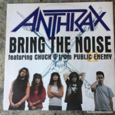 Discos de vinilo: ANTHRAX - BRING THE NOISE . MAXI SINGLE . 1991 UK . Lote 155466562