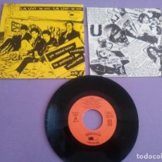 Discos de vinilo: LA UVI EP SPANSULS 1982 YA ESTA BIEN/ RUIDOS/ LA POLICIA/ MUERETE PUNK ROCK IBERICO.SPAIN.. Lote 155517626
