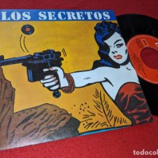 Discos de vinilo: LOS SECRETOS NO ME IMAGINO/INSTRUMENTAL 7 SINGLE 1983 POLYDOR MOVIDA HERMANOS URQUIJO EXCELENTE. Lote 155520258