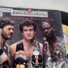 Discos de vinilo: SINGLE (VINILO) DE JOHNNY CLEGG & SAVUKA AÑOS 80. Lote 155551970