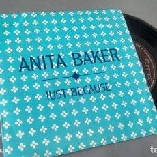 Discos de vinilo: SINGLE (VINILO)-PROMOCION- DE ANITA BAKER AÑOS 80. Lote 155552470