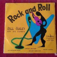 Discos de vinilo: AB-207.- EP.- DE BILL HALEY AND HIS COMETS, ROCK AND ROLL , COLUMBIA . ECGE 70453, . Lote 155584838