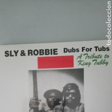 Discos de vinilo: SLY & ROBBIE. DUBS FOR TUBS. TRIBUTE TO KING TUBBY - LP VINILO A ESTRENAR. Lote 155587556