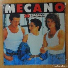 Discos de vinilo: MECANO - 20 GRANDES CANCIONES - GATEFOLD - 2 LP. Lote 155608124