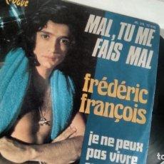 Discos de vinilo: SINGLE (VINILO) DE FREDERIC FRANÇOIS. Lote 155609950