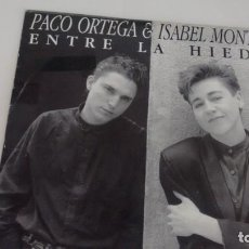 Discos de vinilo: SINGLE (VINILO) DE PACO ORTEGA E ISABEL MONTERO AÑOS 80. Lote 155612014
