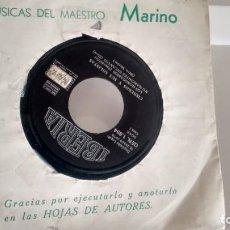 Discos de vinilo: E P ( VINILO) DE CISNEROS Y SUS SOLISTAS AÑOS 70. Lote 155612630