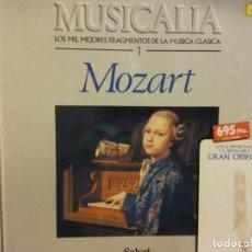 Discos de vinilo: BJS.DISCO DE VINILO.LP.MUSICALIA.MOZART.SALVAT.. Lote 155624478