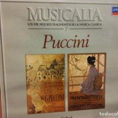 Discos de vinilo: BJS.DISCO DE VINILO.LP.MUSICALIA.PUCCINI.SALVAT.. Lote 155633018