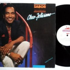 Discos de vinilo: CHEO FELICIANO. SABOR Y SENTIMIENTO. LP MANZANA CHEML-1. ESPAÑA 1988. SALSA.. Lote 155635718
