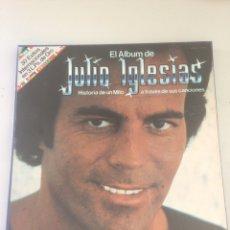 Discos de vinilo: EL ÁLBUM DE JULIO IGLESIAS - HISTORIA DE UN MITO A TRAVÉS DE SUS CANCIONES. Lote 155638996