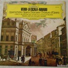 Discos de vinilo: VERDI - LA SCALA - ABBADO. OPERNCHÖRE - OPERA CHORUSES - CHOEURS D'OPERA. CORO E ORCHESTRA DEL TEATR. Lote 155679590