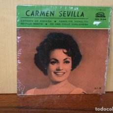 Discos de vinilo: CARMEN SEVILLA - CARMEN DE ESPAÑA + 3 CANCIONES - EP. Lote 155681018