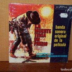 Discos de vinilo: LA MUERTE TENIA UN PRECIO - MUSICA DE ENNIO MORRICONE - EP 4 CANCIONES BANDA SONORA ORIG. Lote 155682242