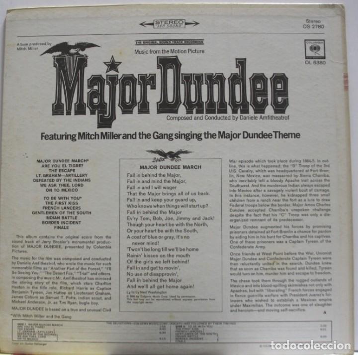 Discos de vinilo: Mayor Dundee. BSO de Daniele Amfitheatrof. Dir. Sam Peckimpah - Foto 2 - 155685666