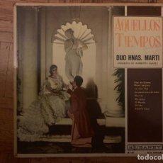Discos de vinilo: HERMANAS MARTI - AQUELLOS TIEMPOS SELLO: KUBANEY ?– MT-125 FORMATO: VINYL, LP, ALBUM PAÍS: CUBA . Lote 155689238