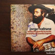 Discos de vinilo: JORGE CAFRUNE ?– MISTERIOS GUARDA LA NOCHE - LA FAMILIA DE JUANITO LAGUNA SELLO: CBS ?– 5288 . Lote 155693402