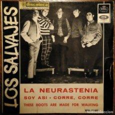 Discos de vinilo: LOS SALVAJES LA NEURASTENIA MOD BEAT EP. Lote 155698270