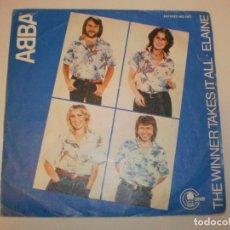 Discos de vinilo: SINGLE ABBA. THE WINNER TAKES IT ALL. ELAINE. CARNABY 1971 SPAIN (PROBADO Y BIEN). Lote 155704518