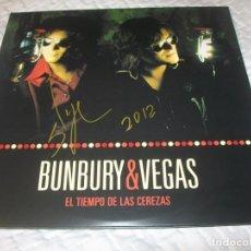 Discos de vinilo: BUNBURY & NACHO VEGAS ( HEROES DEL SILENCIO ) ..2 VINILOS - PORTADA ABIERTA .. FIRMADO POR BUNBURY. Lote 155704794