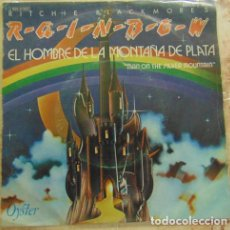 Discos de vinilo: RITCHIE BLACKMORE'S RAINBOW – MAN ON THE SILVER MOUNTAIN - SINGLE 1975. Lote 155724002
