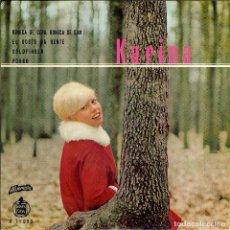 Discos de vinilo: KARINA BOÑECA DE CERA, BONECA DE SOM ( TEMA DE EUROVISION ) ( PORTUGAL ) CANTA EN PORTUGUES. Lote 155724366