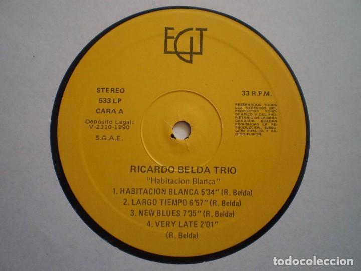 Discos de vinilo: LP. RICARDO BELDA TRIO. HABITACION BLANCA. II CONCURSO DE JAZZ . AÑO 1990. MUY BUENA CONSERVACION. - Foto 3 - 155727630