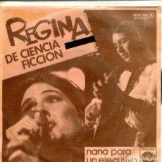 Discos de vinilo: REGINA / DE CIENCIA FICCION / NANA PARA UN EJECUTIVO (SINGLE PROMO 1977). Lote 155729870