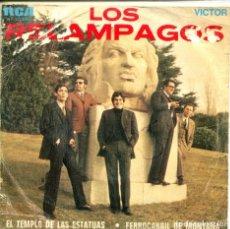 Discos de vinilo: LOS RELAMPAGOS / EL TEMPLO DE LAS ESTATUAS / FERROCARRIL DE MONTAÑA (SINGLE 1969). Lote 155730098