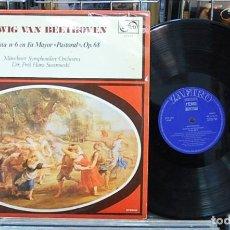 Discos de vinilo: LMV - BEETHOVEN. SINFONÍA NUM. 6 EN FA MAYOR, OP. 68 'PASTORAL'. LP. Lote 155730430