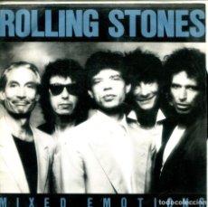 Discos de vinilo: ROLLING STONES / MIXED EMOTIONS (SINGLE PROMO 1989) SOLO CARA A - LABEL AMARILLO. Lote 155731278