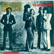 Discos de vinilo: ROLLING STONES / BROWN SUGAR / BITCH (SINGLE PROMO 1984). Lote 155731450