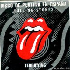 Discos de vinilo: ROLLING STONES / TERRYFYING (SINGLE PROMO 1989) SOLO CARA A - LABEL AMARILLO. Lote 155731558