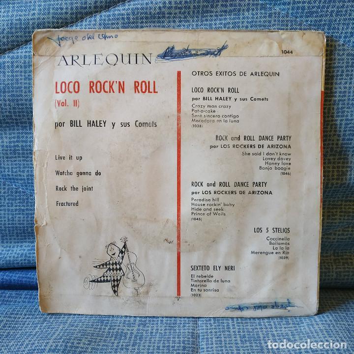 Discos de vinilo: Bill Haley & His Comets - Live it up / Rock the joint + 2 - Muy raro EP Spain Arlequin 1044 año 1961 - Foto 2 - 155738286
