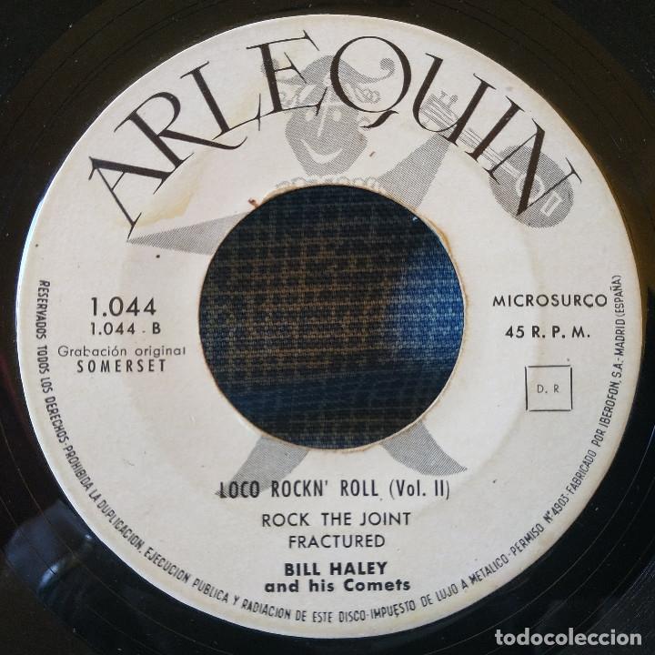 Discos de vinilo: Bill Haley & His Comets - Live it up / Rock the joint + 2 - Muy raro EP Spain Arlequin 1044 año 1961 - Foto 4 - 155738286