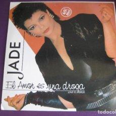 Discos de vinilo: JADE MAXI SINGLE VICTORIA 1985 - EL AMOR ES UNA DROGA (LOVE IS A DRUG) - ELECTRONICA DISCO . Lote 155746198