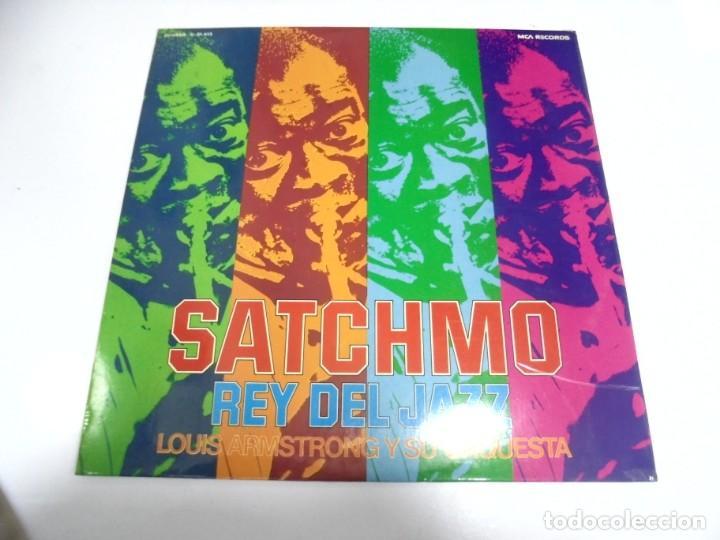 LP. SATCHMO. REY DEL JAZZ. LOUIS ARMSTRONG Y SU ORQUESTA. 1973. MCA RECORDS (Música - Discos - LP Vinilo - Otros estilos)