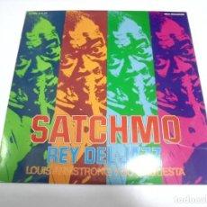 Discos de vinilo: LP. SATCHMO. REY DEL JAZZ. LOUIS ARMSTRONG Y SU ORQUESTA. 1973. MCA RECORDS. Lote 155746446