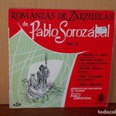 Discos de vinilo: ROMANZAS DE ZARZUELAS DE PABLO SOROZABAL - ORQUESTA DE CONCIERTOS DE MADRID - EP. Lote 155751678