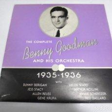 Discos de vinilo: LP. THE COMPLETE BENNY GOODMAN AND HIS ORCHESTRA- 1935 -1936. SERDISCO 1991. Lote 155751794