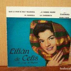 Discos de vinilo: LILIAN DE CELIS - EP 4 CANCIONES . Lote 155752106